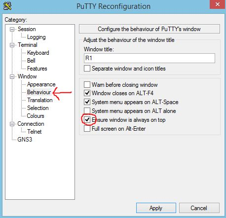 putty how to change text color