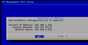 f5 virtual appliance management port setup
