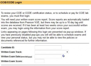 ccie lab booking how to book ccie lab exam screenshot