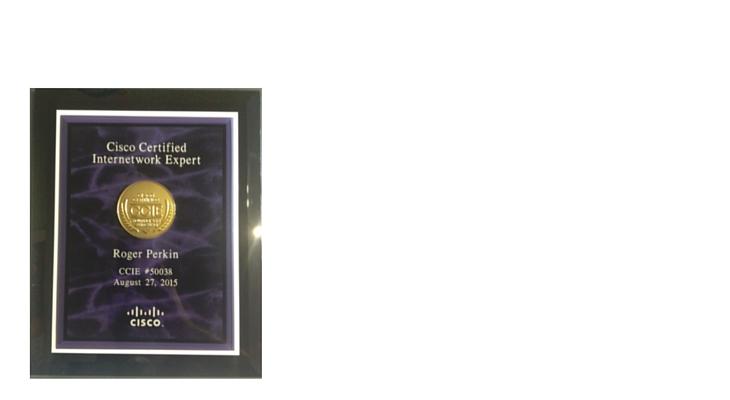 ccie plaque 2015 roger perkin