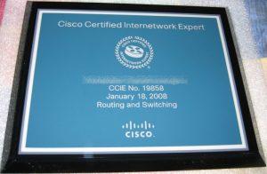 ccie plaque version 2