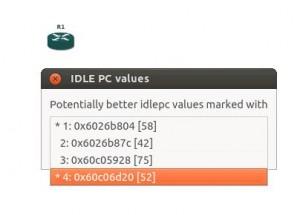 gns3 idle pc values