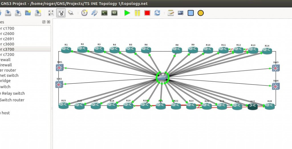 gns3 running ine troubleshooting lab 30 routers