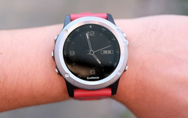 garmin fenix 3 on wrist