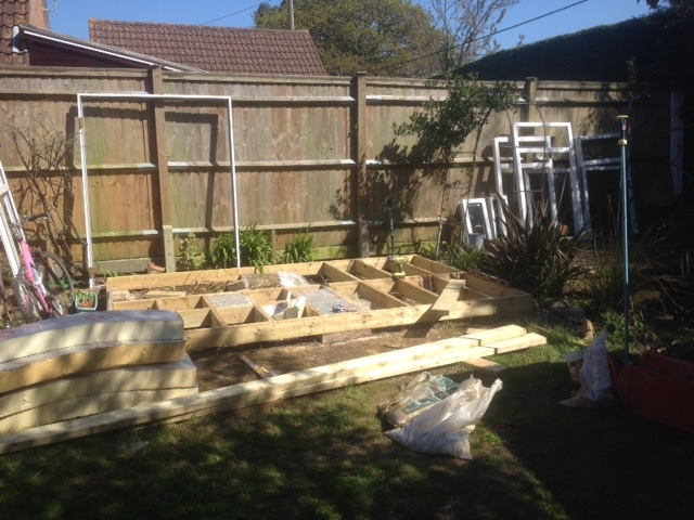 how to build a garden room from scratch day 3