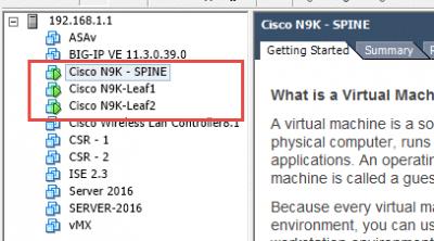 cisco nexus 9000v deployed on esxi