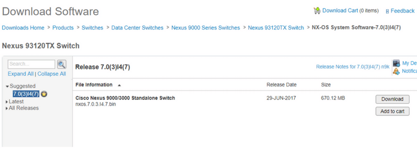 cisco nexus 9000 software download 93120tx