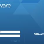 vmwre esxi 6.5 login screen