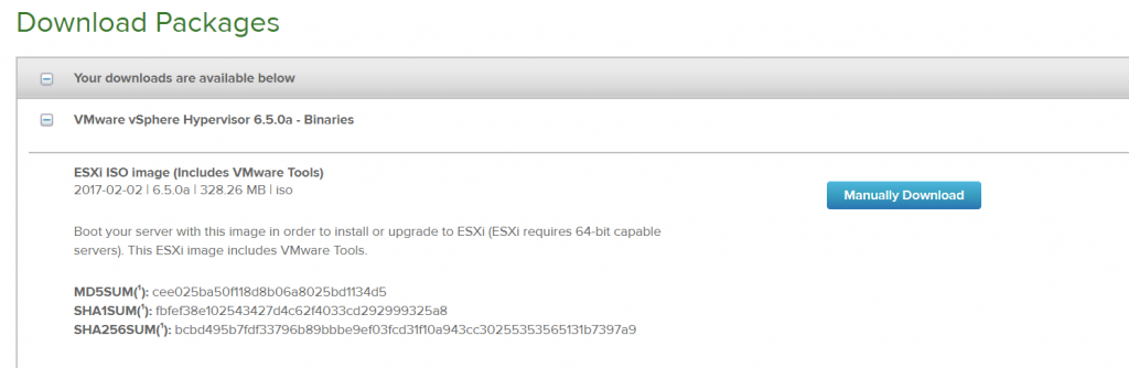 vmware esxi 6.5 download