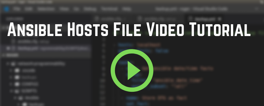 Ansible Hosts File Video Tutorial