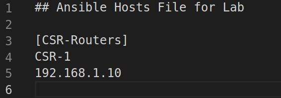 ansible hosts file for home lab