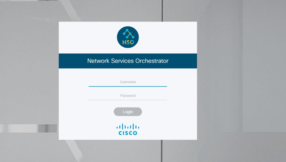 cisco nso default password login screen