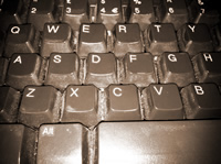 how to clean computer screen and keyboard picture of dirty keyboard