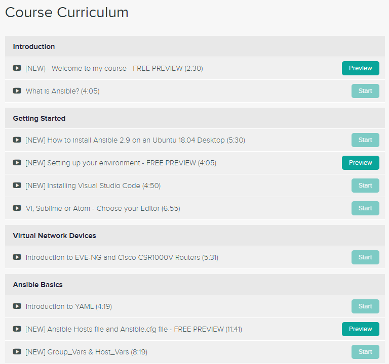 ansible course curriculum