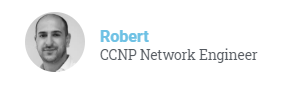 Rober CCNP Network Engineer course testimonial image