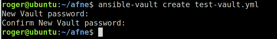 ansible-vault create