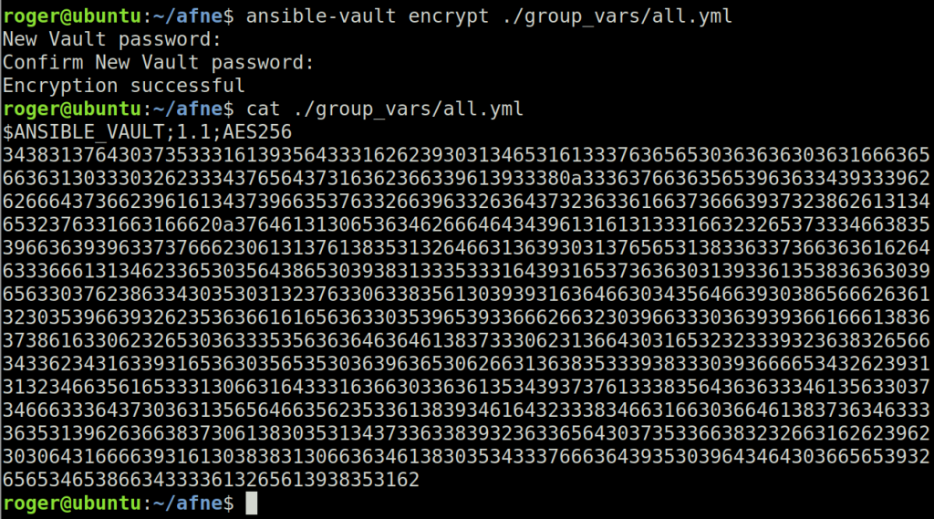 ansible-vault encrypt