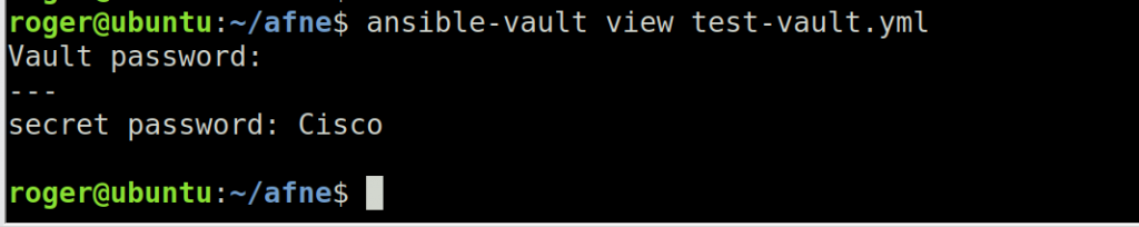 ansible vault view