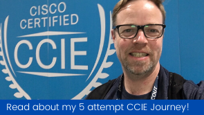 my ccie journey roger perkin picture of roger perkin at Cisco Live 2019