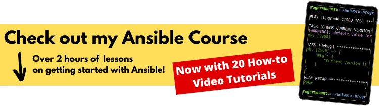 ansible network automation course