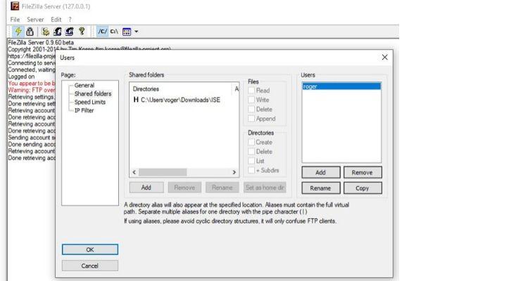 filezilla settings for cisco ise upgrade