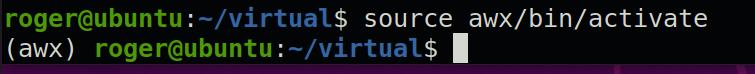 virtualenv for awx install